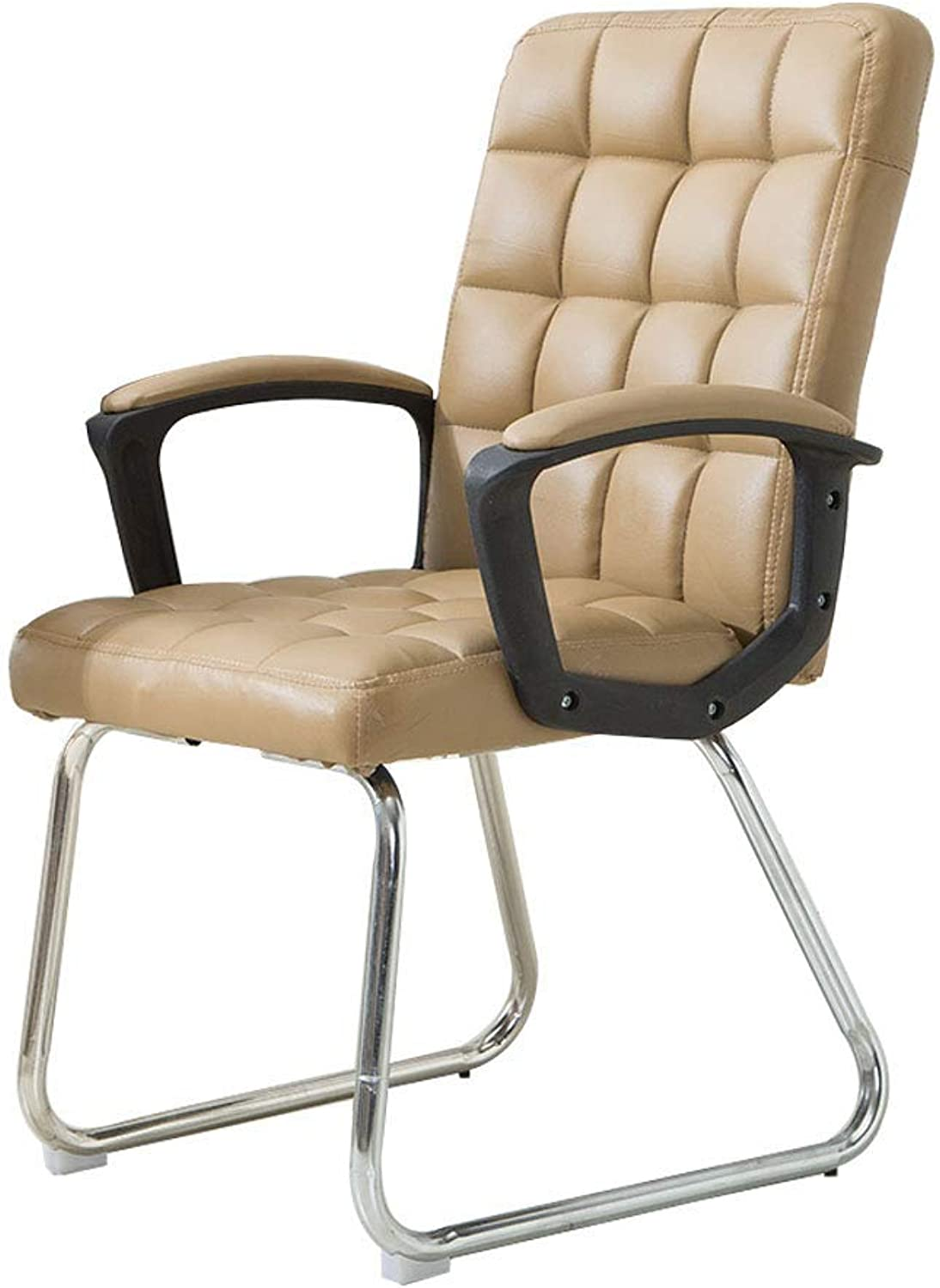 Chair Office Chair, Armchair, Imitation Leather High Resilience Sponge Pad Home Computer Staff Student Seat Meeting to Discuss Backrest Chair,gold