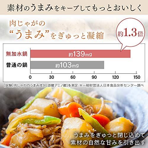 アイリスオーヤマ鍋IH対応24cm浅型両手鍋無加水鍋レッドGMKS-24S