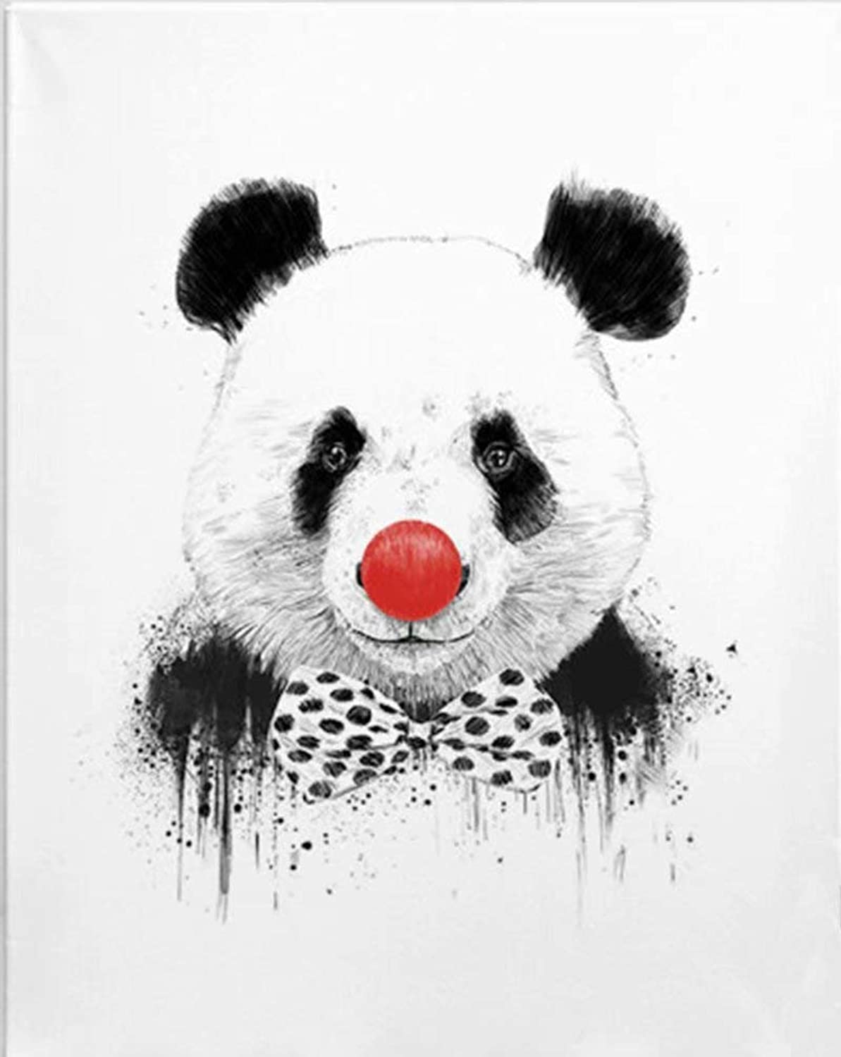 DIY Oil Painting Paintworks Paint by Number for Kids and Adults Panda 16x20 Inch,with Wooden Frame