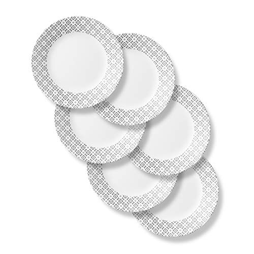 Corelle Boutique Dinner Plate Farmstead Grey 11in (27.9cm) 6 Pack