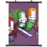 Modern style Home Decor Custom Poster with Castle Crashers Characters Arm Helmet Graphics Wall Scroll Poster Fabric Painting 23.6 X 35.4 Inch (60cm X 90 cm)
