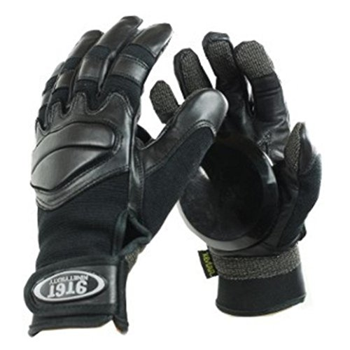 Ninetysixty Slide Handschuhe Longboard Gloves Schwarz - Skateboard Handschuhe Black - Slidegloves, Grösse:S
