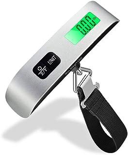 Mixigoo Báscula de Equipaje Balanza Digital Portátil 50kg Pantalla LCD Retroiluminada con Función de Tara Bascula para Maletas de Viaje