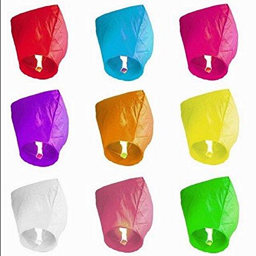 Sky Fly Fire lanternes Lot de 20 Lanternes lanternes papier chinois lanterne Wishing pour anniversaire de mariage Parti