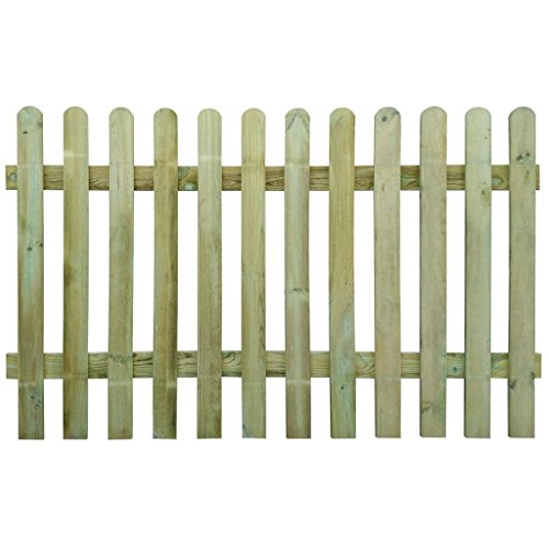 vidaXL Recinzione Picchetto Steccato in Legno 200x120 cm Staccionata da Giardino