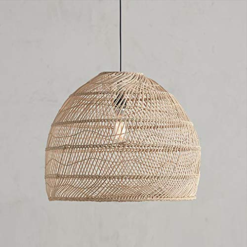 Moderna lámpara colgante de ratán de estilo japonés para sala de estar, dormitorio, comedor, bar, decoración de loft, suspensión de luminaria