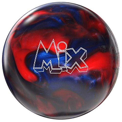 Storm Mix Bowling Ball Polyester Bowlingkugel für Einteiger und Profis Gewichten (Rot/Blau, 8 LBS)