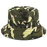 Apanphy® Cappello Pescatore Estate Cotone Safari Escursionismo Cappello Secchio Outdoor C...