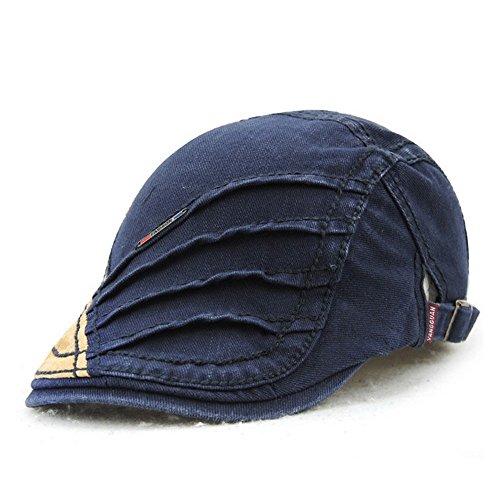 Women's Novelty Summer Cotton Beret Newsboy Visor Cap Hat Blue