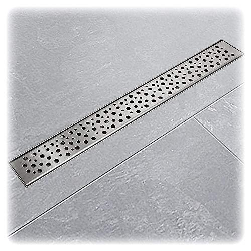 Edelstahl Duschrinnen Ablaufrinnen Bodenablauf Duschrinne Duschablauf Tropfen 50cm