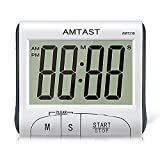 AMTAST Digital Kitchen Cooking Timer with Large Display Screen, Loud Sounding Alarm Clock Countdown Timer with Desktop Placing Stand and Magnet