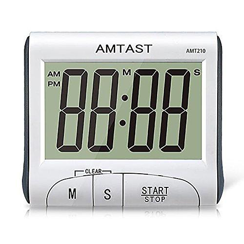 amtast Digital Küche Kochen Timer mit großem Display, laut Klingende Wecker Countdown Timer mit Desktop Ständer und Magnet