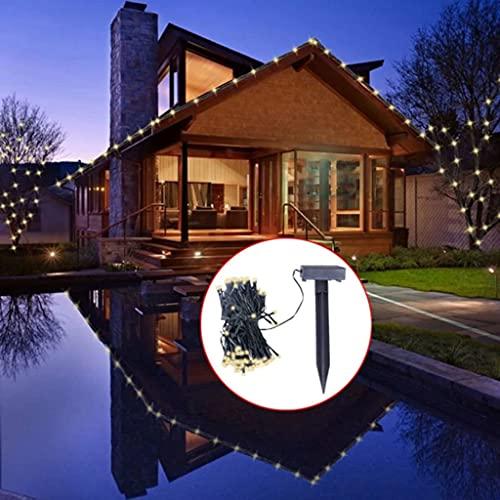 vidaXL Guirlande Solaire LED Lumineuse Blanc Noël Décoration Lumière Jardin
