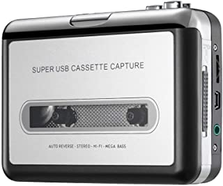 Bon Venu Portable Cassette Player Tape Convertor to MP3 via USB Compatible with Laptops and Personal Computers with Earphones