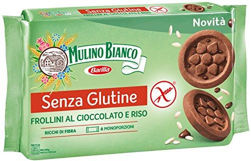 Mulino Bianco Biscotti Frollini Senza Glutine al Cioccolato e Riso, Gluten Free - 250 gr
