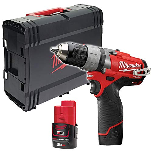 Milwaukee M12 Fuel Compact 2 Speed Drill Driver M12CDD-202X with Stackable Case