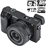 Anti-Scratch Anti-Wear Camera Body Skin Cover Protector Film for Sony Alpha A6000 with 16-50mm Zoom Lens Protective Decoration - Carbon Fiber Black