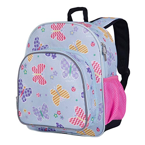 Wildkin 12 Inches Backpack for Toddlers, Boys and Girls, Ideal for Daycare, Preschool and Kindergarten, Perfect Size for School and Travel, Mom's Choice Award Winner, Olive Kids (Butterfly Garden)