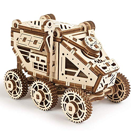3D Puzzle for Kids and Adults - SMALL Motor Vehicle Mechanical Model KIT - Wooden Model Kits for Adults to Build - Easy SELF-Assembling - Gorgeous Gift for Boys and Girls (Mars Buggy)