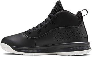 Under Armour Unisex-Youth Pre School Lockdown 4 Basketball Shoe, Black (001)/Black, 13K