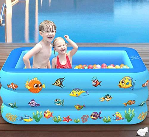 YULEW Lavabo de baño para niños de 150 cm Piscina para niños en el hogar Piscina para niños Piscina Cuadrada Inflable Piscina Inflable para niños