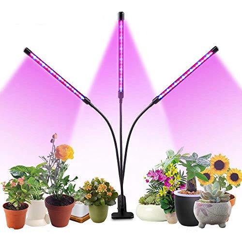 ZMHS LED Grow Light 27W Timer Phyto Lamp, USB 5 Dimmable Levels Plant Grow Lights, for Indoor Plants Seedlings Full Spectrum Grow Box Light