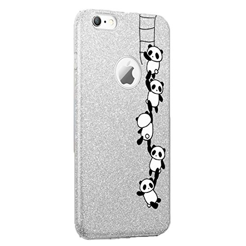 Teryei Funda iPhone 6 Plus / 6S Plus, TPU+PC Case Anti-Golpes protección Rasguño y Resistente [Ultra Slim ] Full Anti-Estático Choque Bumper pour 6 Plus / 6S Plus - Polvo de flash (Panda 1)