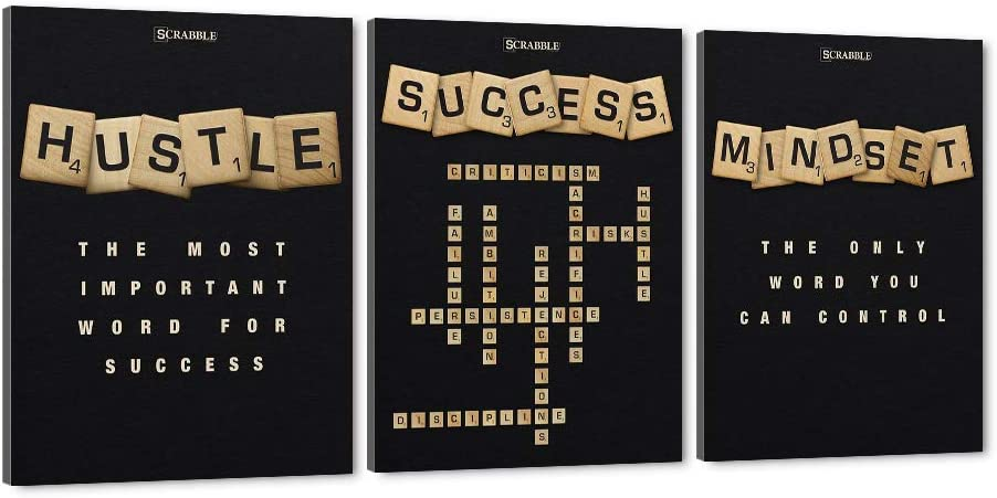 Inspirational Scrabble Wall Art Hustle-The f Most Soldering Important Word Surprise price