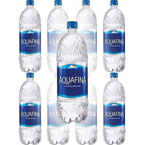 Aquafina Water, Pure Water, Perfect Taste, 16.9 Fl Oz (Pack of 8, Total of 135.2 Fl Oz)