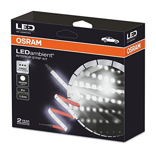 OSRAM LEDambient Interior Strip Kit, Kit Universal de Tiras, LED, luz ambiental para coches, LEDINT203, 1 Set