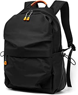 QUJHF Backpack Computer Bag Simple Fashion Trend Bag Young Casual Polyester Waterproof Backpack (Color : Black)