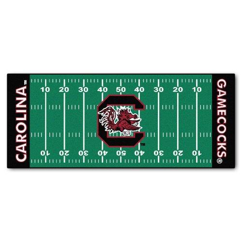 FANMATS 7560 NCAA University of South Carolina Gamecocks Nylon Face Football Field Runner ,Team Color