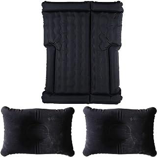 車用エアーベッド ブラック 8気室 エアー枕2個付き 電動エアーポンプ付き 補修キット付き 重量3.61kg [並行輸入品]
