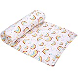 Kids Toddler Blanket UOMNY Soft Cot Nursery Comforter Quilts for Boys and Girls 33x42 Inch Cotton 1 Pack kids'crib Blankets Nursery Blanket Lightweight (Rainbow)