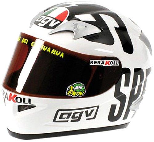 Minichamps - 327040096 - Casco AGV - Valentino Rossi, Campione del Mondo, Moto GP Philip Island, Scala: 1:2