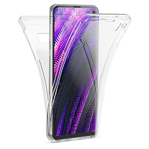 Kaliroo Handyhülle 360 Grad kompatibel mit Samsung Galaxy S10E, Dünne Silikon R&um Hülle Full-Body Cover, Slim Schutzhülle Handy-Tasche Phone Hülle, Vorne und Hinten Komplett-Schutz Etui - Transparent