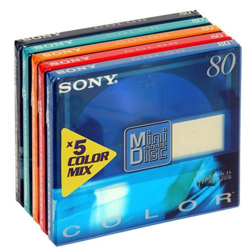 Sony 5 Pack 80min MiniDisc Colou...