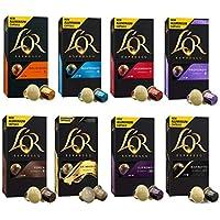 L'OR Espresso - Surtido de Café Expreso -Cápsulas de café de aluminio compatibles con máquinas Nespresso® - 8 paquetes de 10 cápsulas cada uno (80 Porciones)