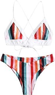 Best striped triangle bikini Reviews