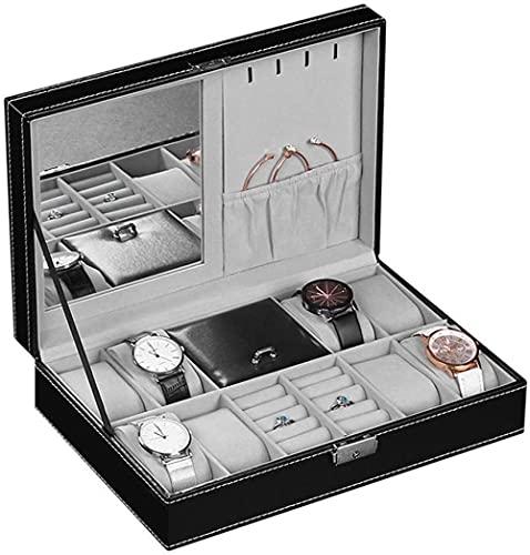 Caja de relojes Caja de almacenamiento de visualización de reloj Caja de reloj Organizador de piel sintética para reloj de joyería de moda
