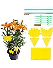 YHmall Fruit, vliegenvanger, gele stickers, lijmvallen, ter bescherming tegen rouwmuggen, fruitvliegen, herbruikbaar (30 stuks)