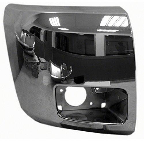 Chrome Front Bumper Extension Outer for 12-13 Chevrolet Silverado 1500