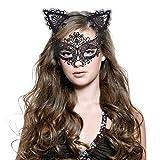 Haarreif Katzenohren & Lace Masquerade Set, [ Süße, Sexy & Komfort ], Haarreifen mit Ohren |...