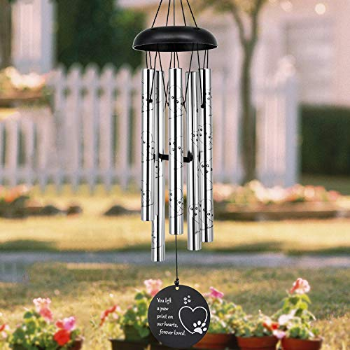 ASTARIN Pet Memorial Wind Chime, 30 Inches Paw Print Pet Memorial Gift to Honor and Remember a Dog,...