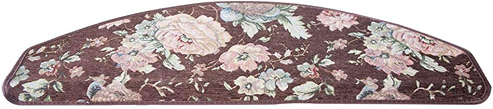 JIAJUAN Stair Carpet Treads Non-Slip Breathable Self-Sticking Solid Wood Staircase Step Rugs, 6mm, 4 Styles, 3 Sizes, Cust...