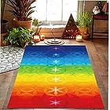 Rainbow 7 Chakra Mandala Bohemia Manta Mat Tapiz Toalla de Playa del Verano Yoga