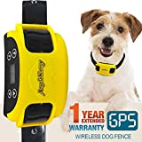 AngelaKerry Wireless Dog Fence System with GPS, Outdoor Dog Containment System Rechargeable Waterproof