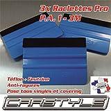 carstyle 3X Raclette Pro 3M PA1 Teflon + Filz, weich, Kratzfest, Covering