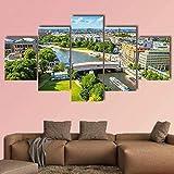 5 piezas de arte moderno Berlin Potsdam HD en lienzo estirado y enmarcado, imágenes, pinturas en lienzo, arte de pared para la decoración del dormitorio de la sala de estar, listo para colgar