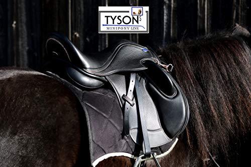 Ledersattel Monosattel 14 15 Zoll Shetty Pony Sattel Leder + 5 Kopfeisen verstellbar Shettysattel Tysons Roségold weiches Leder (15 Zoll)